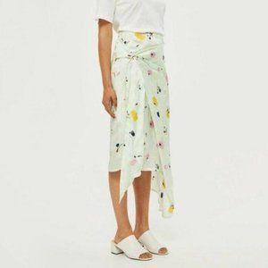TOPSHOP Marble Bloom Sash Skirt Floral